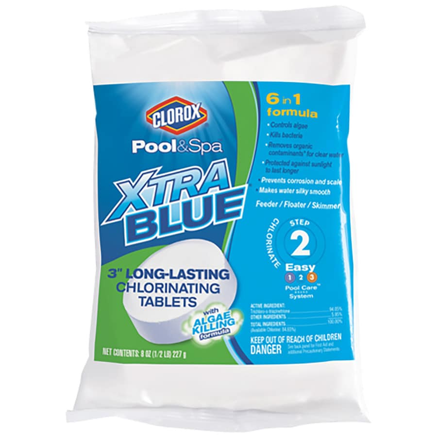 Clorox Pool&Spa XtraBlue 0.5-lb Individual 3-in Pool Chlorine Tabs