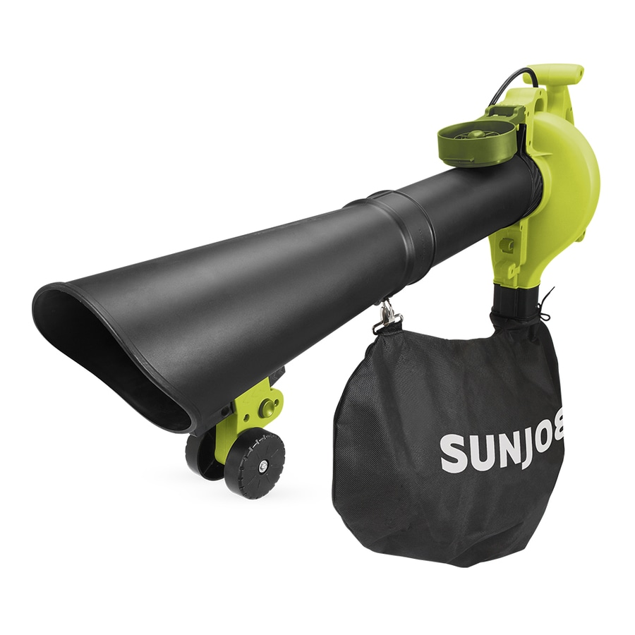 Electric Blowers Product : Shop sun joe amp cfm mph corded electric leaf