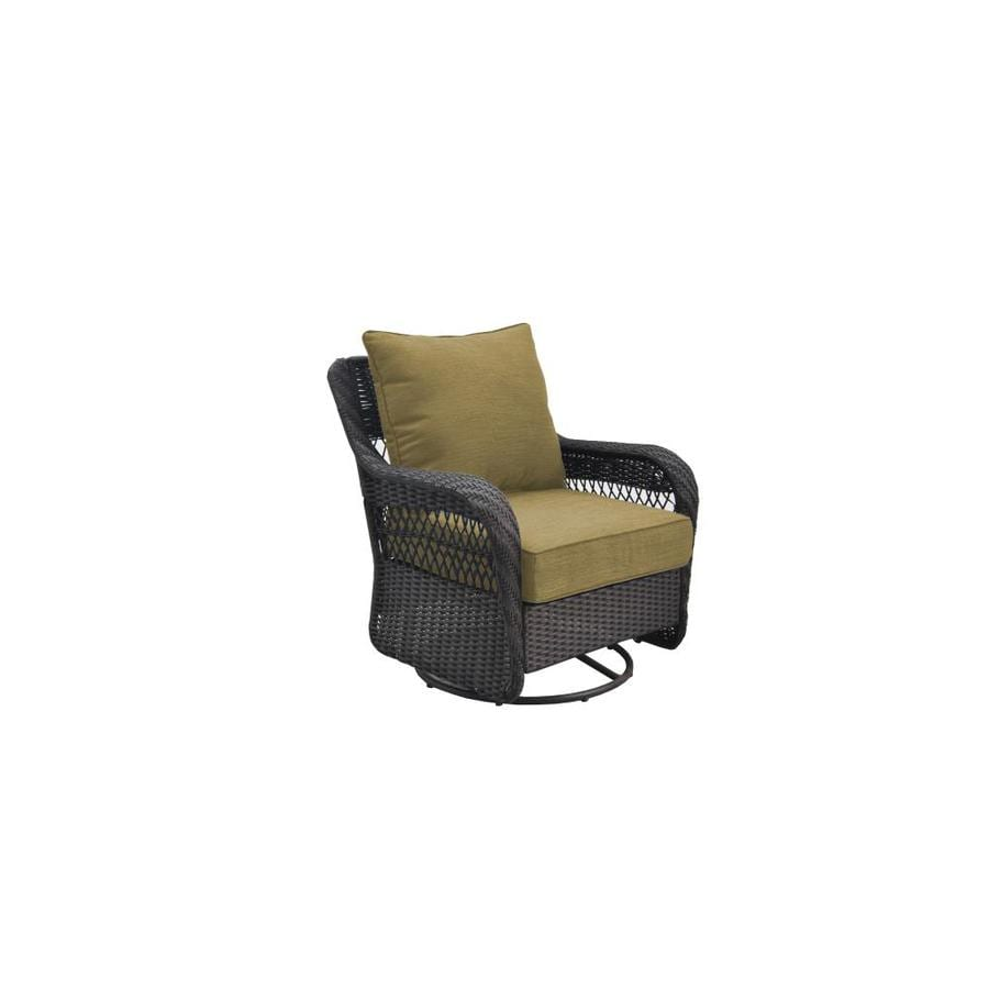 allen + roth Glenlee Motion Patio Chair Brwn Wicker with Wheat Cushion  sc 1 st  Loweu0027s & Shop allen + roth Glenlee Motion Patio Chair Brwn Wicker with Wheat ...