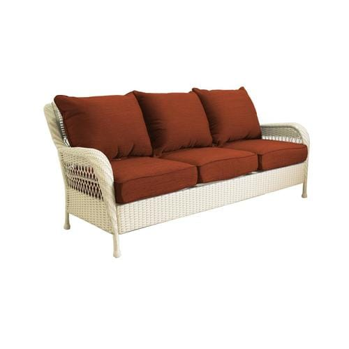 allen + roth Glenlee Wicker Outdoor Sofa with Cushion and ...