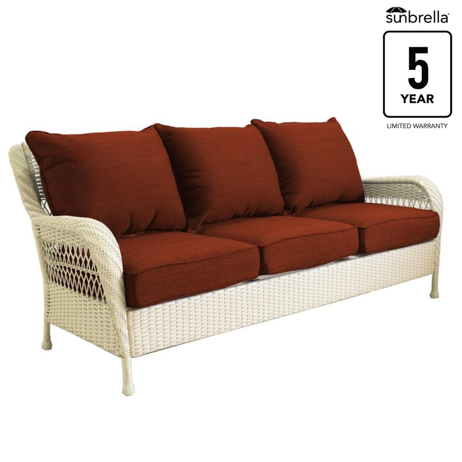 Beau Allen + Roth Glenlee Sofa White Wick Canvas Chili