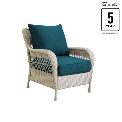 Outstanding Allen Roth Glenlee Set Of 2 Wicker Metal Stationary Cjindustries Chair Design For Home Cjindustriesco