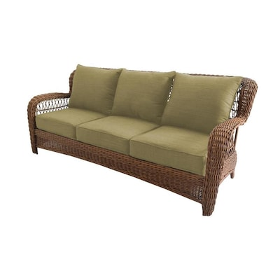 Belanore Woven Outdoor Sofa With Cushion And Steel Frame