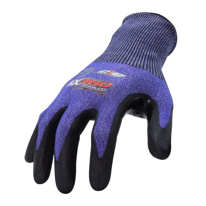 212 Performance Ax360 Seamless Nitrile Dipped Cut Resistant Dotted Grip Gloves En Level 3 Large In The Work Gloves Department At Lowes Com