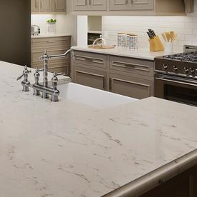 Allen Roth Frosted Wind Quartz Kitchen Countertop Sample
