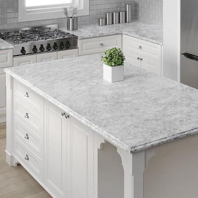 Oyster Cotton Quartz Kitchen Countertop Sample