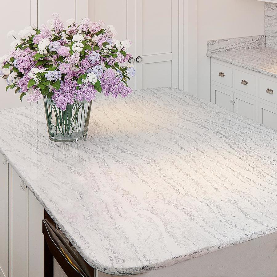 Allen Roth Frost Quartz Kitchen Countertop Sample