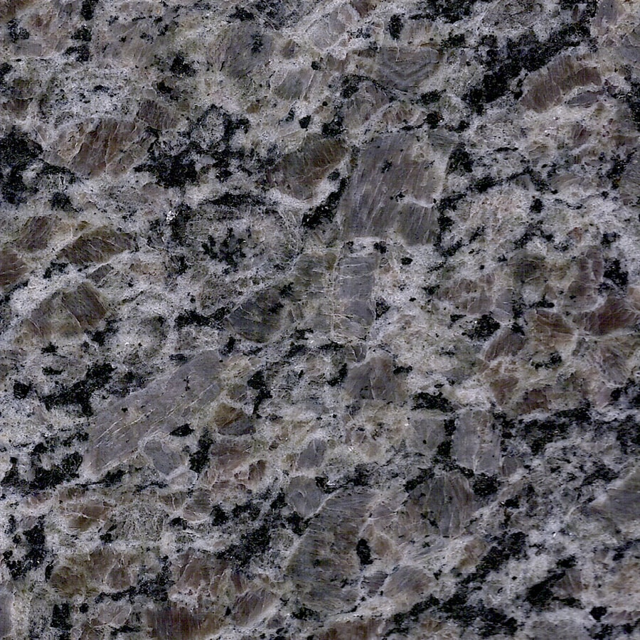 Allen Roth Talulah Pearl Granite Gray Kitchen Countertop Sample In The Kitchen Countertop Samples Department At Lowes Com