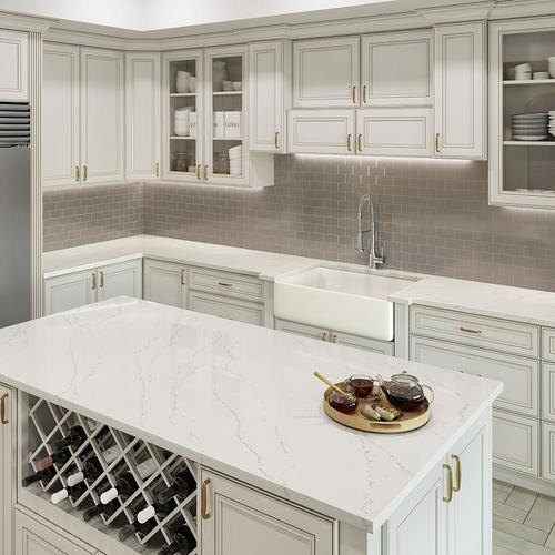 Allen Roth Alluring Quartz Kitchen Countertop Sample At Lowes Com