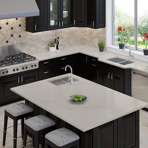 Allen Roth Peaceful Quartz Kitchen Countertop Sample At