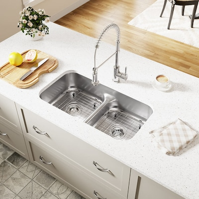 Mr Direct 32 5 In X 18 13 Stainless Steel Double Basin
