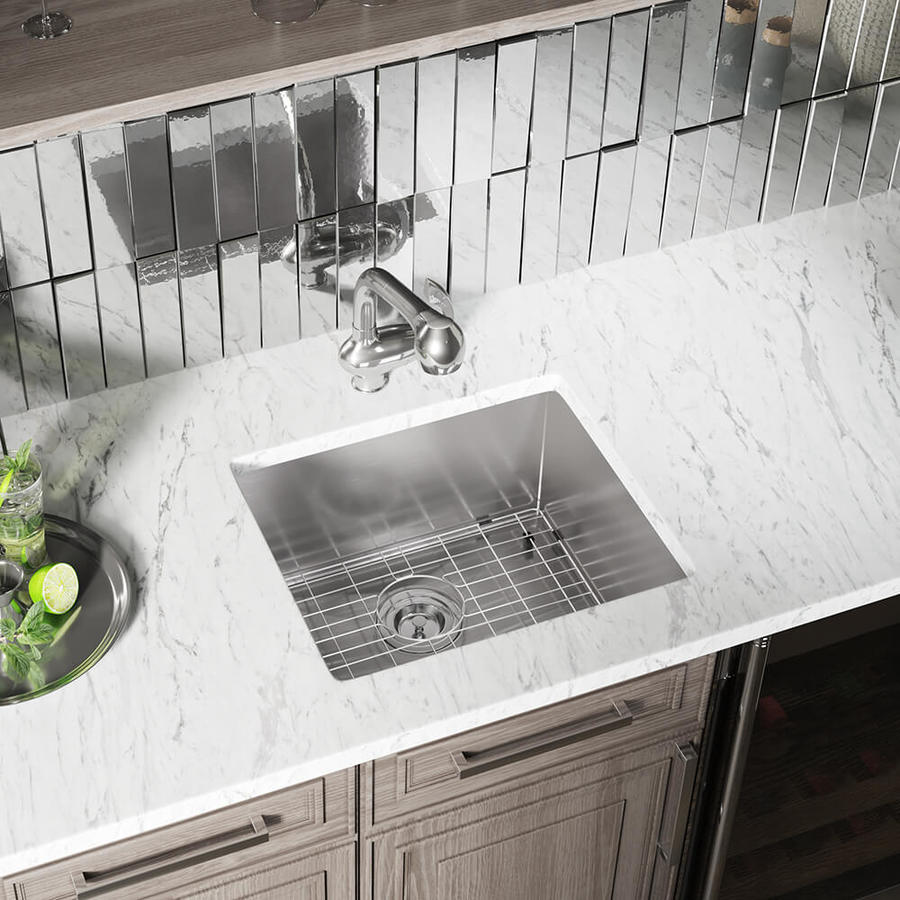 Mr Direct Undermount 20 In X 19 In Stainless Steel Single Bowl Kitchen Sink In The Kitchen Sinks Department At Lowes Com
