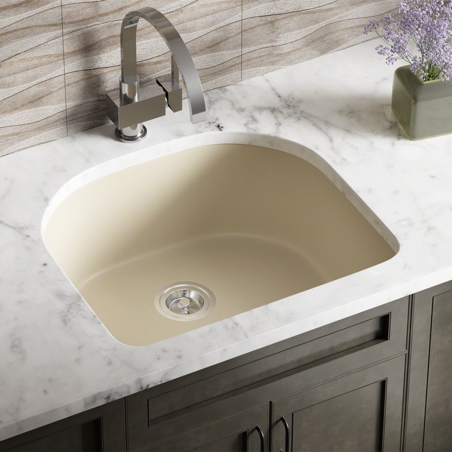 Mr Direct 24 75 In X 22 Beige Single Basin Undermount Commercial Residential Kitchen Sink