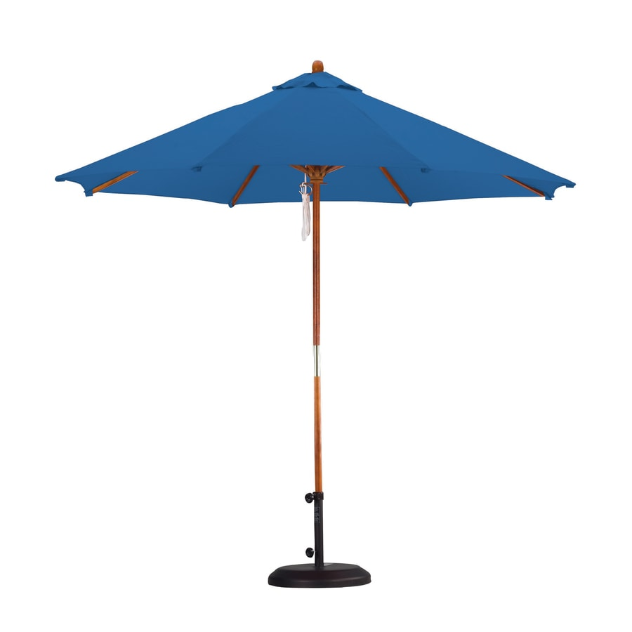 Lauren & Company Pacific Blue Market 9-ft Patio Umbrella