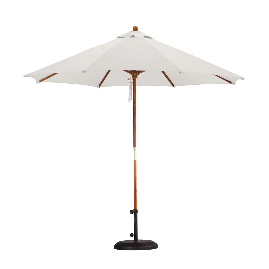 lauren company natural white market patio umbrella common 9 ft w x