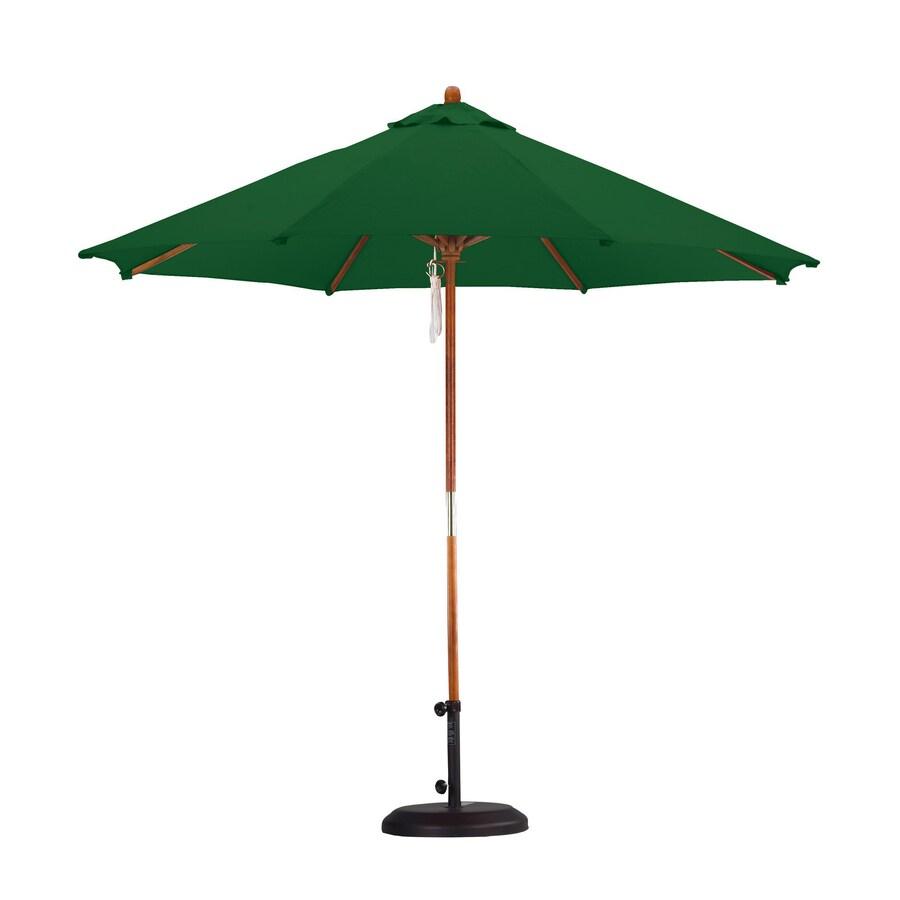 Lauren & Company Hunter Green Market Patio Umbrella (Common: 9-ft W x 9-ft L; Actual: 9-ft W x 9-ft L)