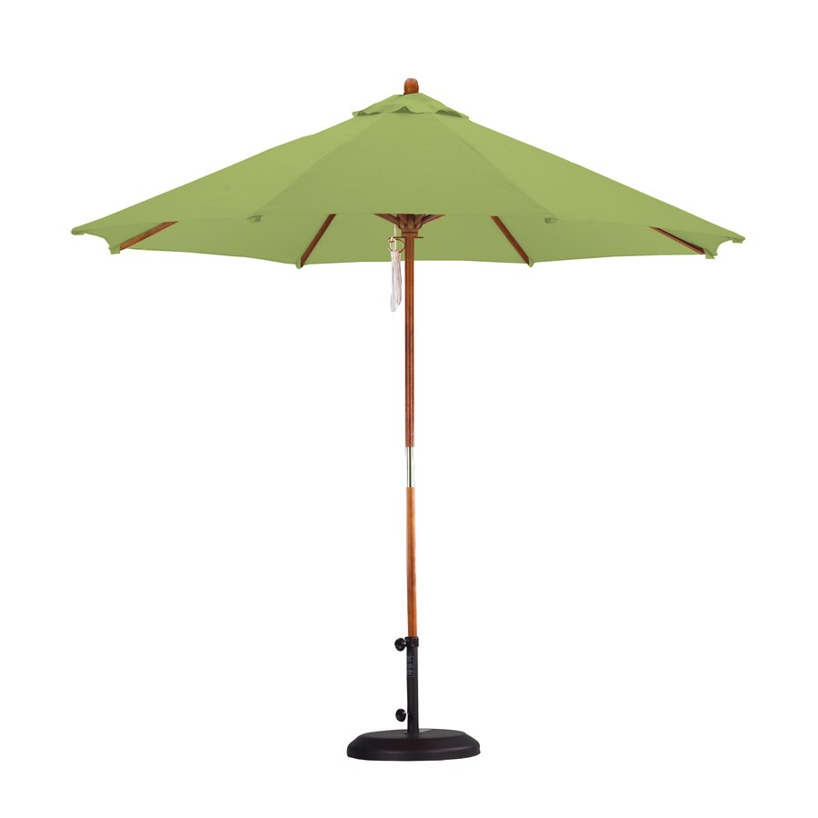 Lauren & Company Lime Green Market Patio Umbrella (Common: 9-ft W x 9-ft L; Actual: 9-ft W x 9-ft L)