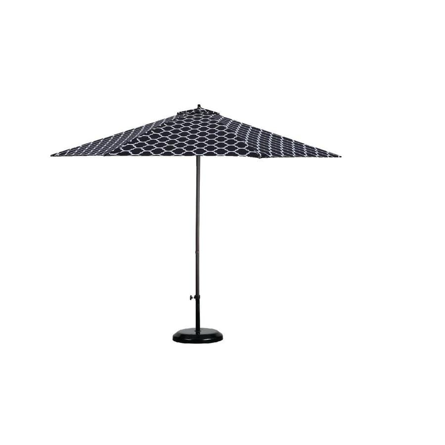 Lauren U0026 Company 9 Ft Black/White Moroccan Pattern Patio Umbrella