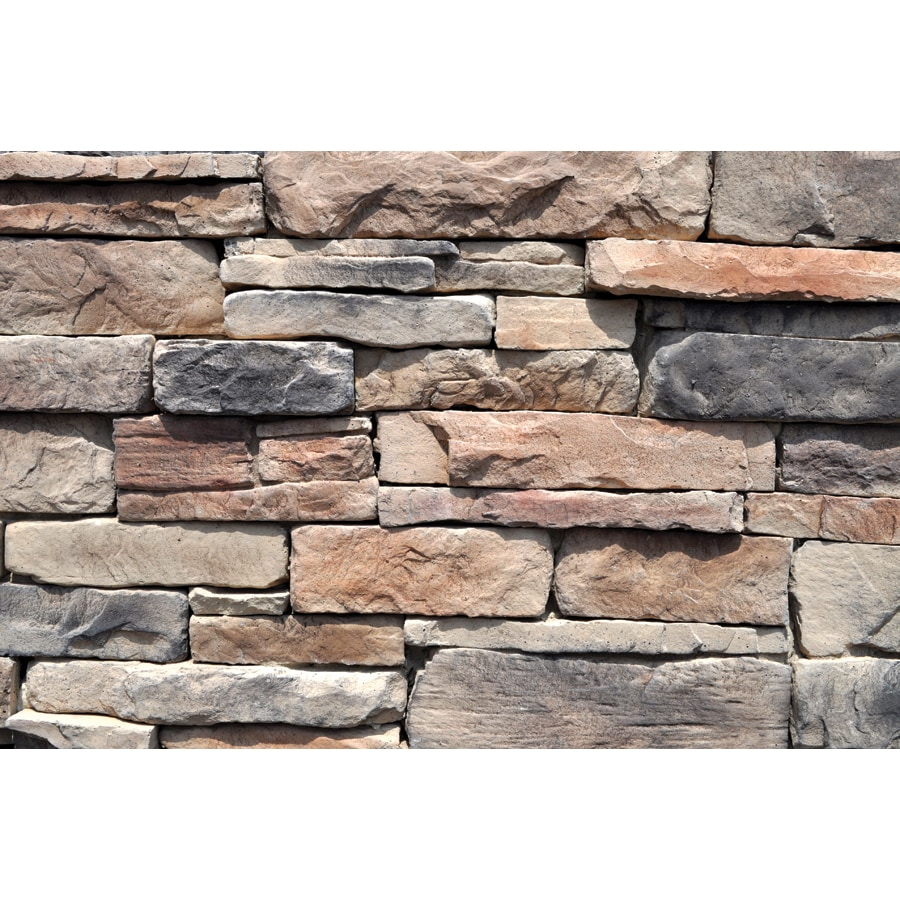 Stone Veneer Siding : Shop m rock appalachian ledge sq ft brown manufactured