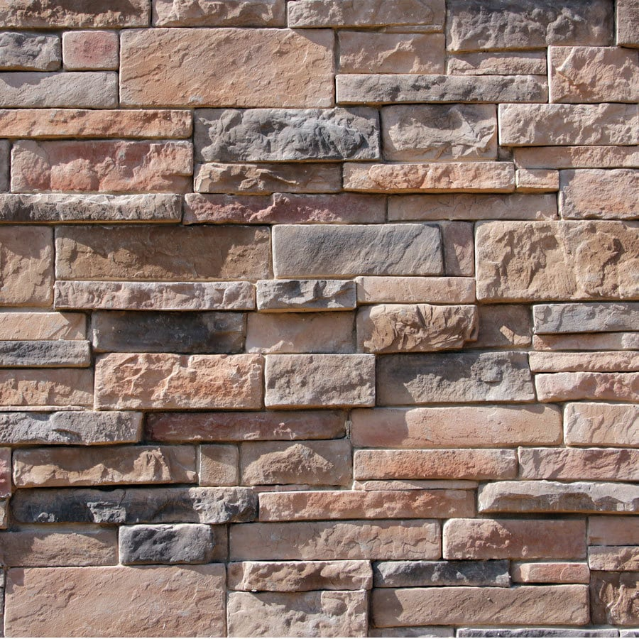 M-Rock Back Country Dry Stack Gray Molded Corner Stone Veneer Trim