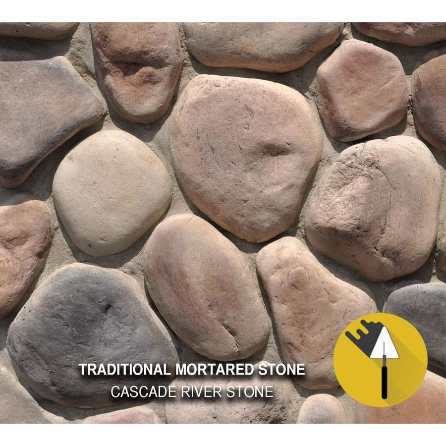 M-Rock Cascade River 100-sq ft Brown Stone Veneer