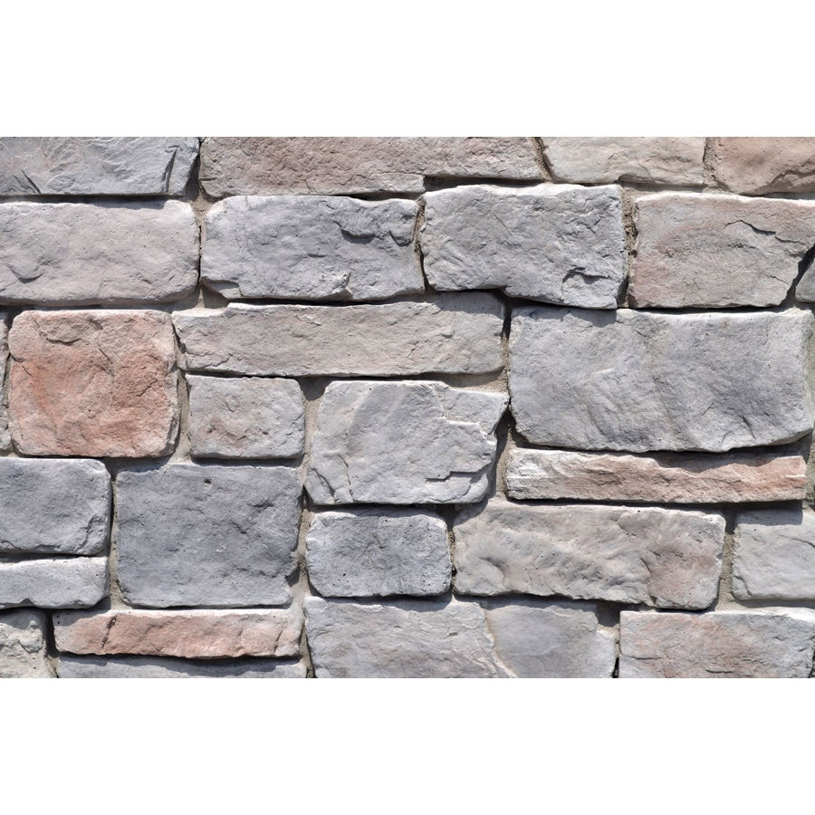 M-Rock Classic Cobble 100-sq ft Gray Stone Veneer