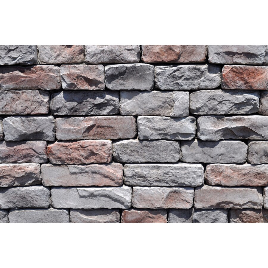 M-Rock Frontier Easy Stack 100-sq ft Gray Stone Veneer
