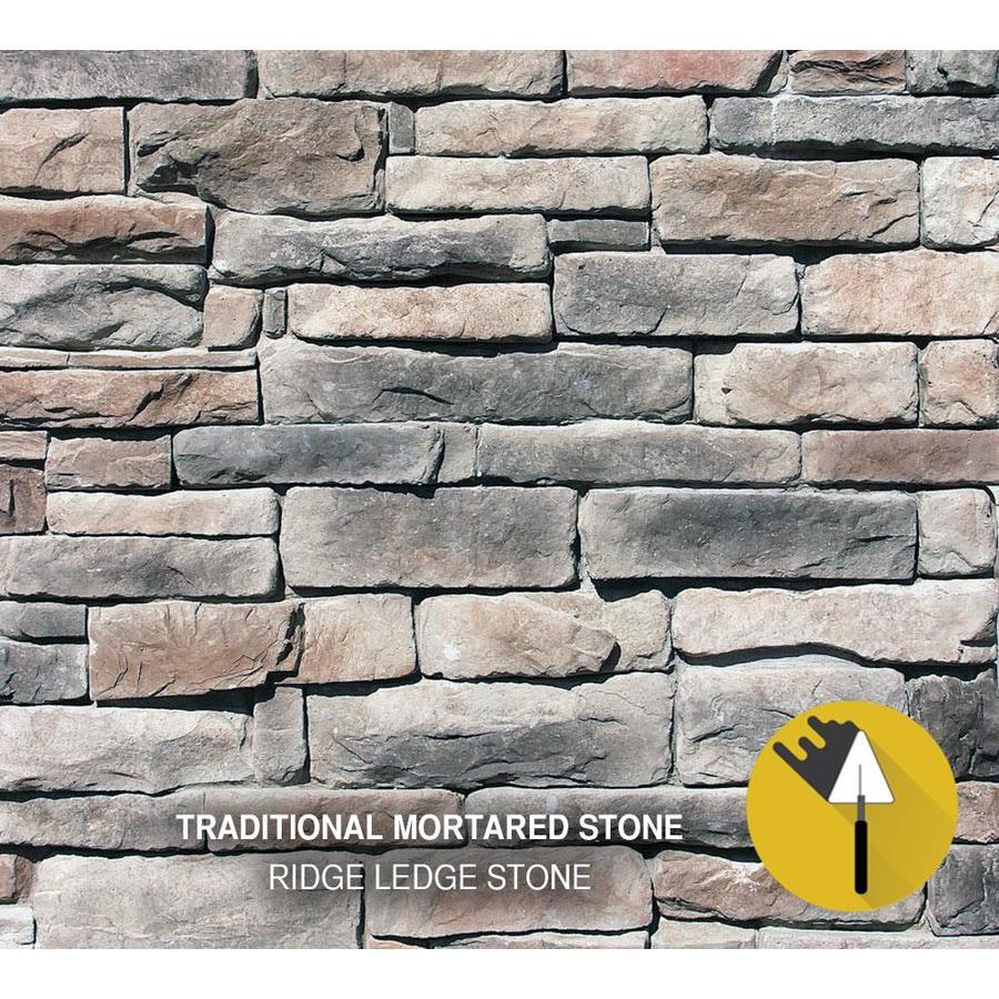 M-Rock Ridge Ledge 100-sq ft Gray Stone Veneer