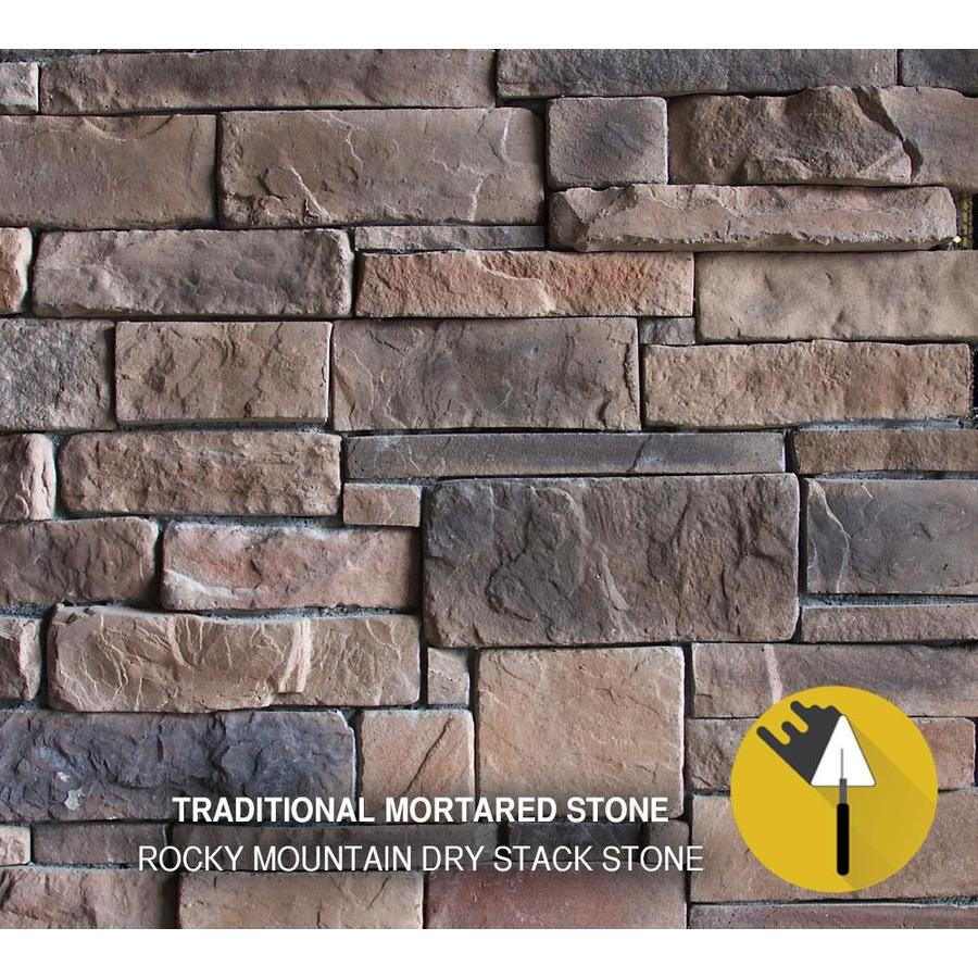 M-Rock Rocky Mount Drystack 100-sq ft Brown Stone Veneer