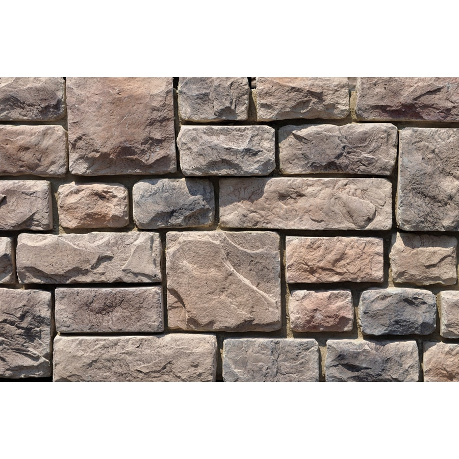 M-Rock Alleghany Colonial Cobble 100-sq ft Brown Stone Veneer
