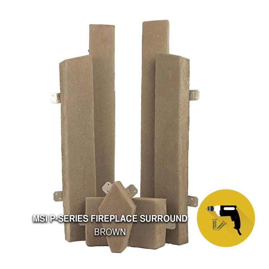 M-Rock Fireplace Trim Kit 7-Pack Brown Trim Stone Stone Veneer Trim