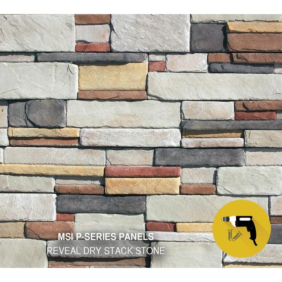 M-Rock MSI Reveal Dry Stack 83-sq ft Brown Stone Veneer