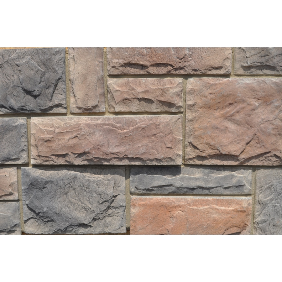 M-Rock Brookshire Castle 48-sq ft Brown Stone Veneer