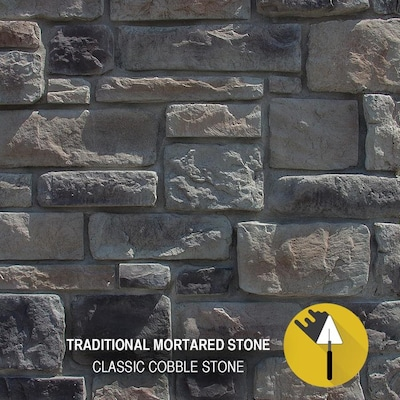M-Rock Classic Cobble 48-sq ft Gray Manufactured Stone