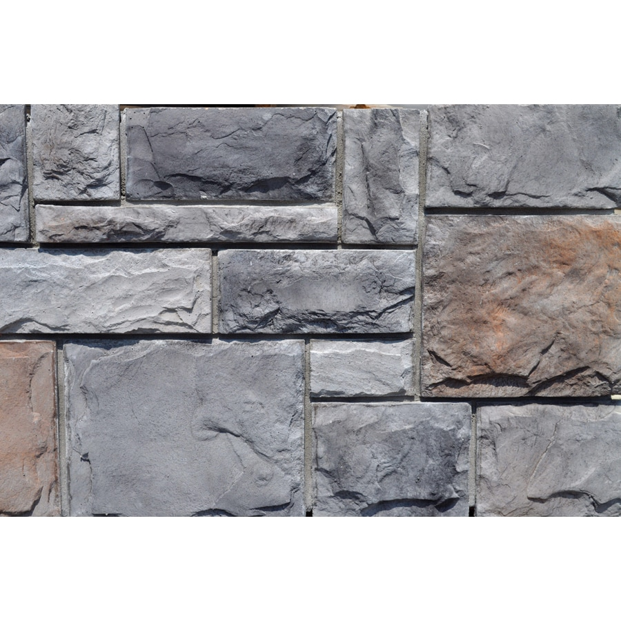 M-Rock Fortress Castle 48-sq ft Gray Stone Veneer