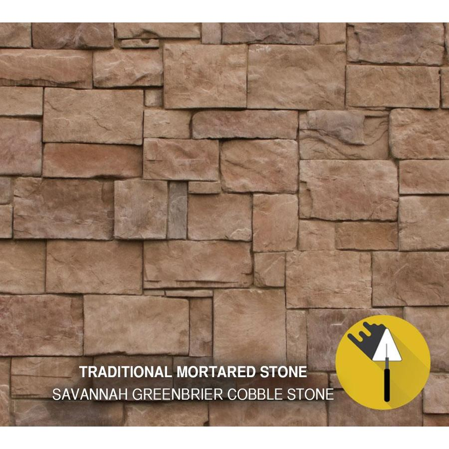 M-Rock Savannah Greenbrier Cobble 48-sq ft Brown Stone Veneer