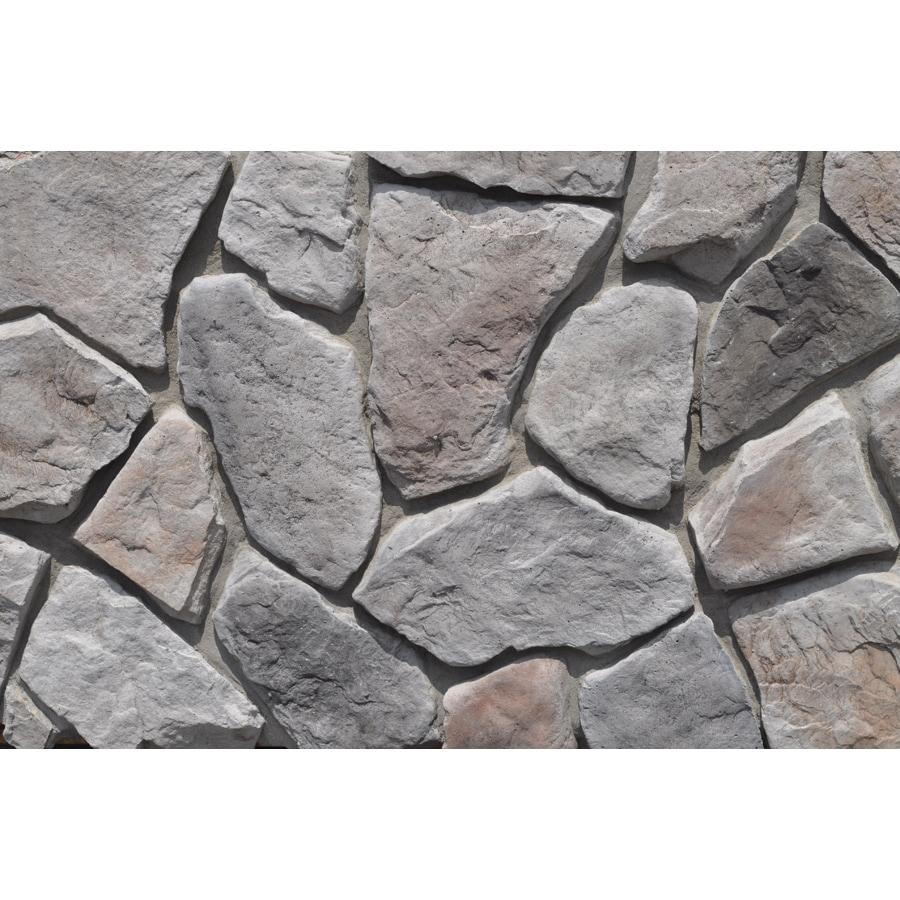 Grey Stone Veneer : Shop m rock mountain top field sq ft gray stone veneer