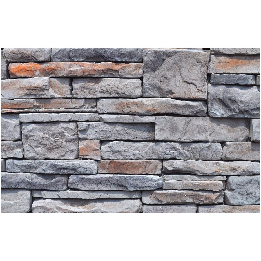 M-Rock Ridge Ledge 48-sq ft Gray Stone Veneer