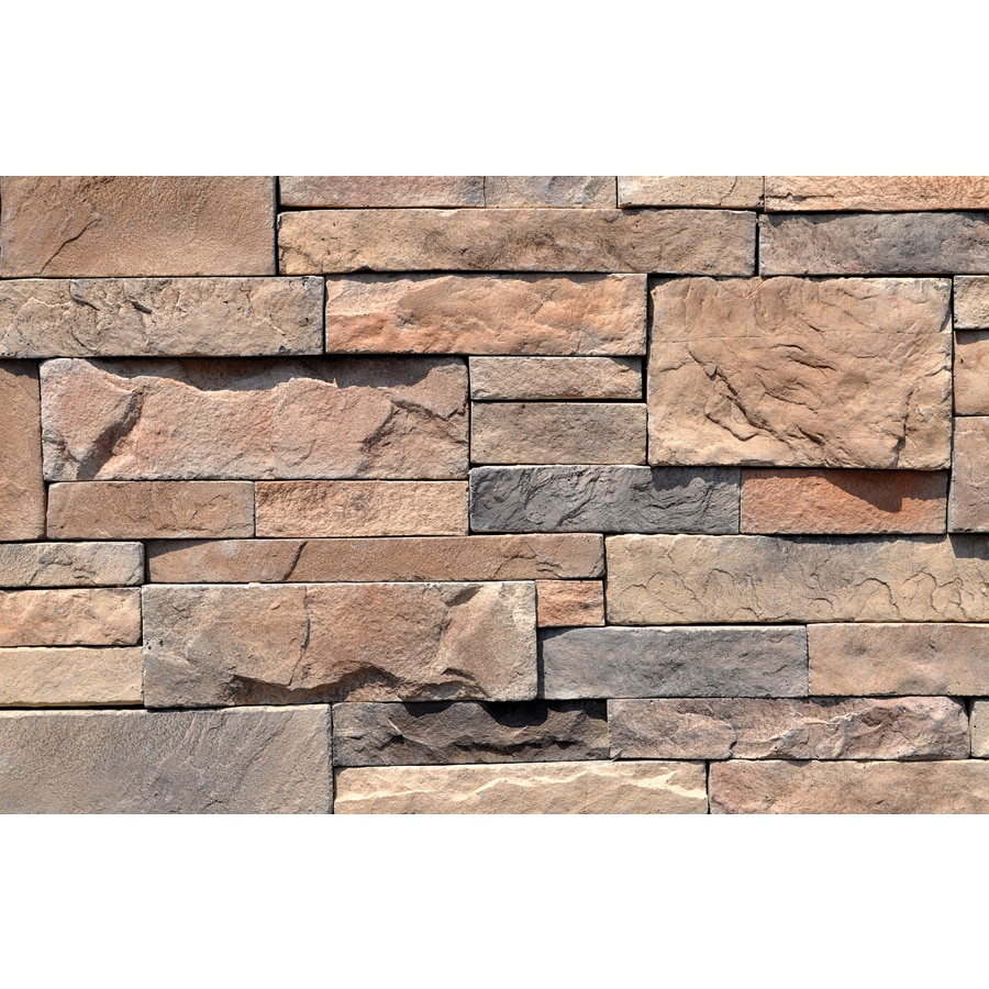 Shop M Rock Rocky Mount Dry Stack 48 Sq Ft Brown Stone