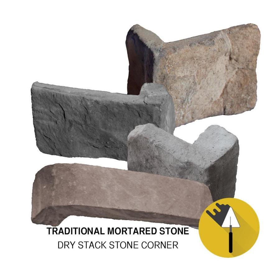M-Rock Rocky Mount Dry Stack Brown Molded Corner Stone Veneer Trim
