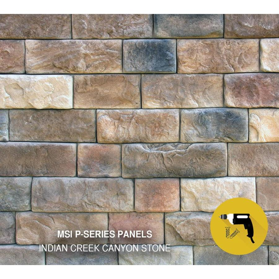 M-Rock MSI Indian Creek Canyon Brown Molded Corner Stone Veneer Trim