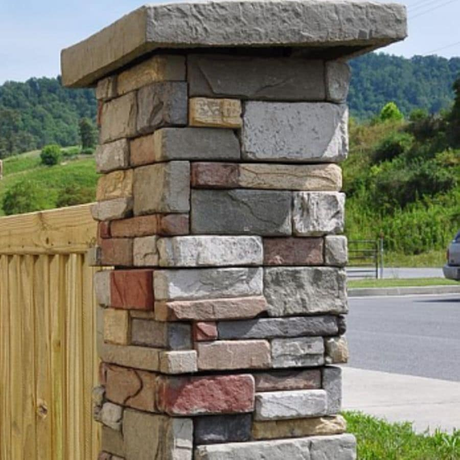 M-Rock MSI 6x6 Post Surround 20-Pack Aspen Post Cover Stone Veneer Trim