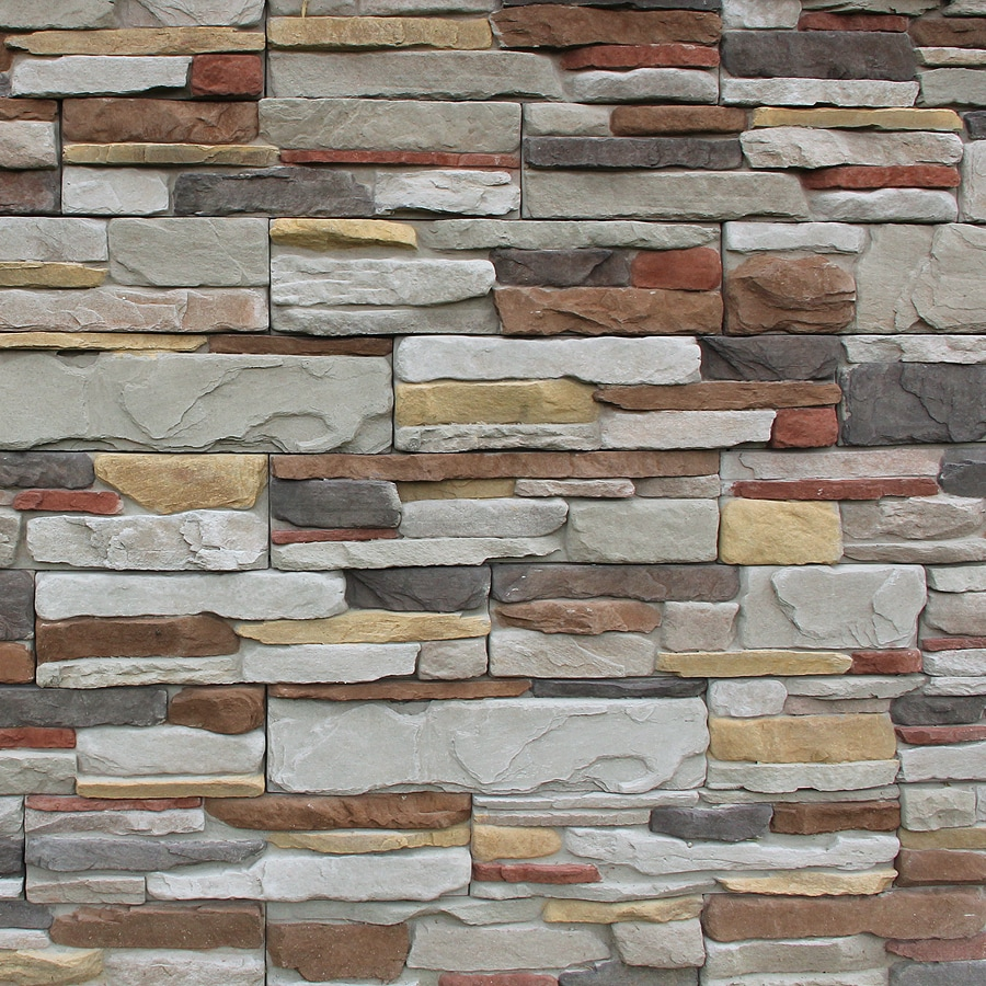Stone Veneer Products : Shop m rock msi aspen ledge sq ft brown stone veneer