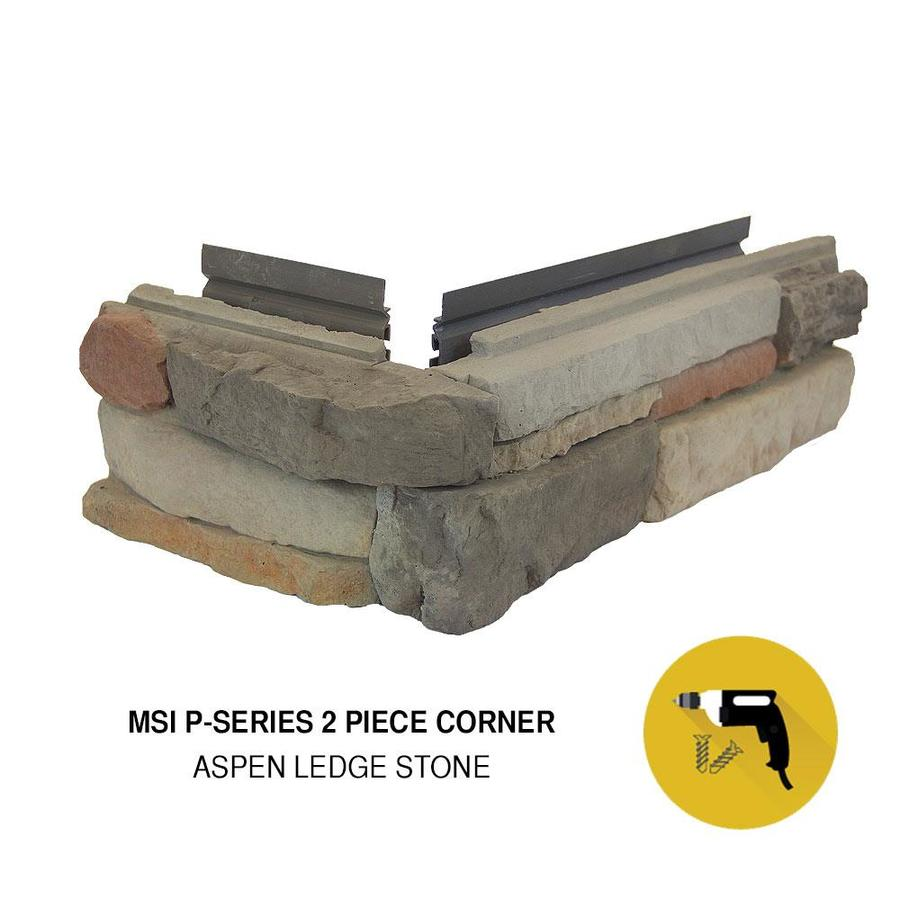 M-Rock MSI Aspen Ledge Brown Molded Corner Stone Veneer Trim