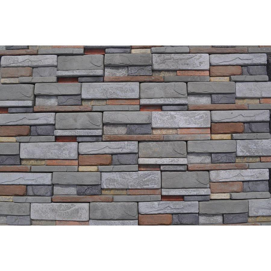 M Rock Msi Reveal Dry Stack 39 2 Sq Ft Brown Stone Veneer