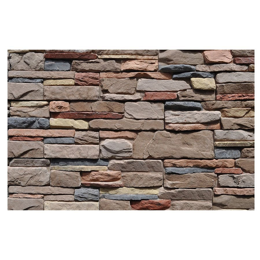 Shop m rock meridian stone veneer at for Mortarless stone veneer panels