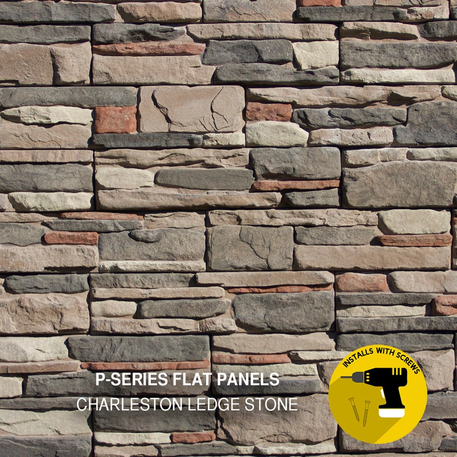 "stone wallpaper brown grey beige vinyl laminated 22ft x 48/"" Stacked brick"