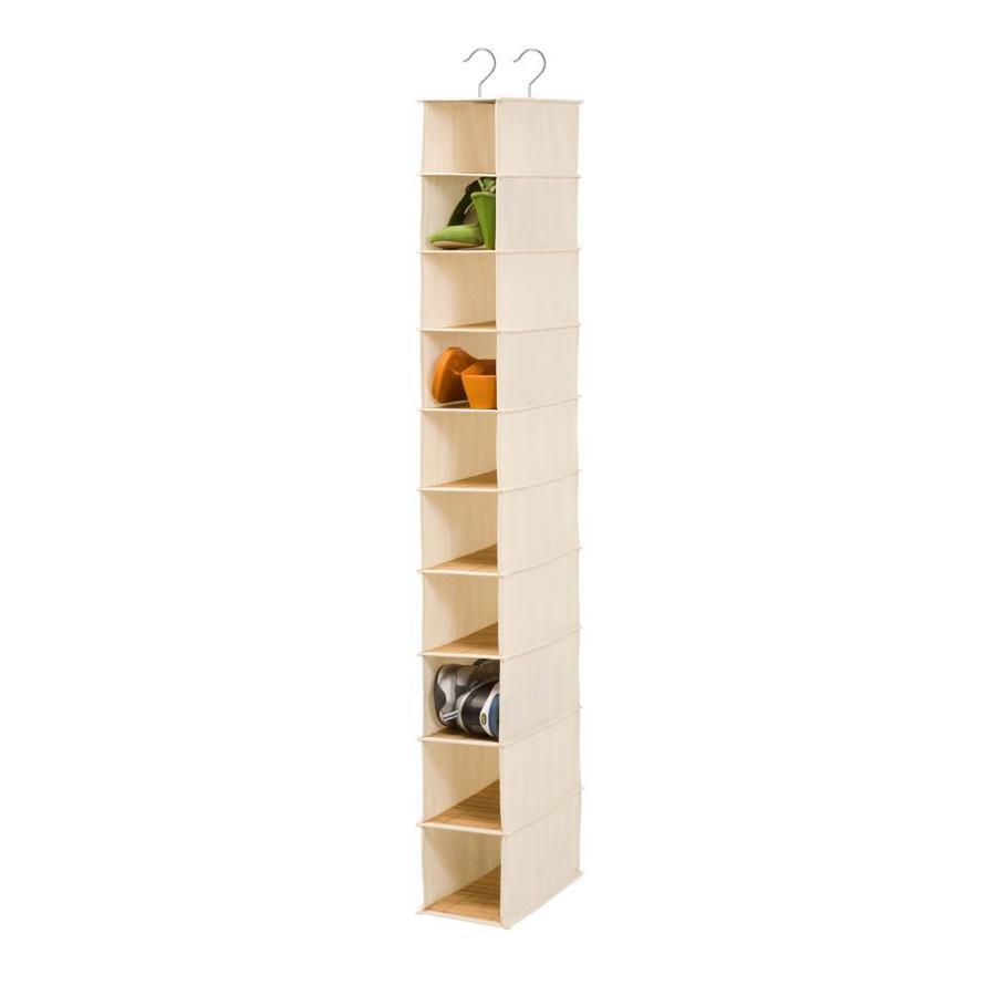 Honey-Can-Do 10 Shelf Shoe Organizer- Bamboo/Natural
