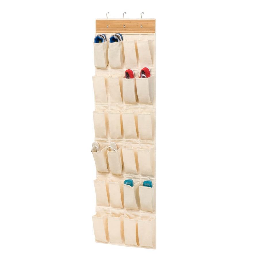 Honey-Can-Do 24 Pocket Otd Organizer- Bamboo/Natural