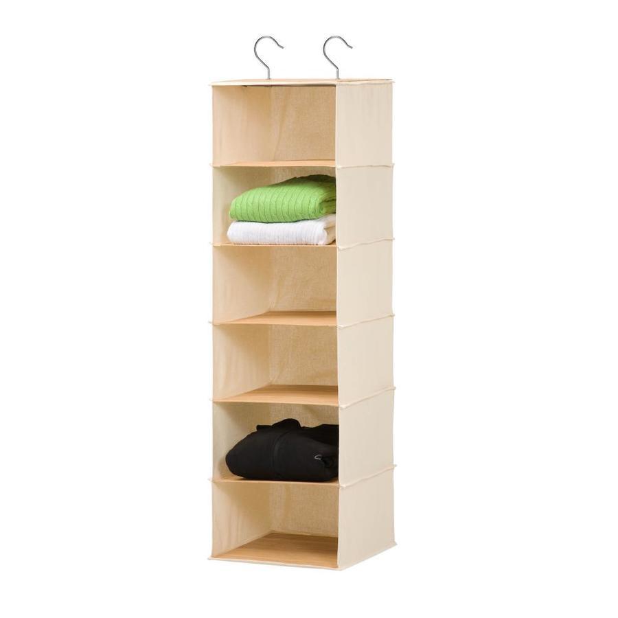 Honey-Can-Do 6 Shelf Hanging Organizer- Bamboo/Natural